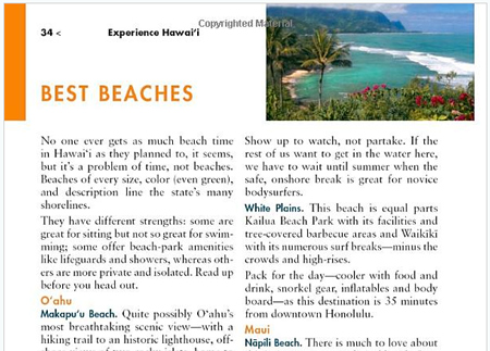 Hawaii Guidebook Fodor's Hawaii Best Beaches