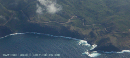 Maui Car Rental Coastline Road Top View