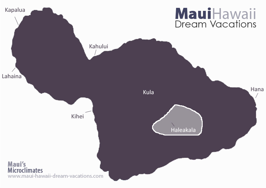 Maui Haleakala Weather Map Microclimates