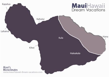 Maui Hana Weather Map Microclimates