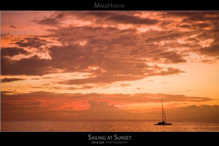 Maui Hawaii Sunset Posters
