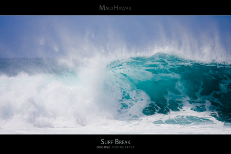 Maui Hawaii Surf Poster