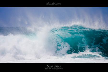 Maui Hawaii Surf Poster
