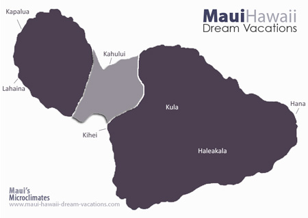 Maui Kahului Weather Map Microclimates