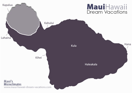 Maui Kapalua Weather Map Microclimates