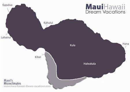Maui Kihei Weather Map Microclimates