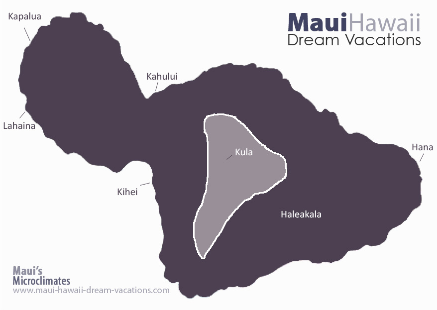 Maui Kula Weather Map Microclimates
