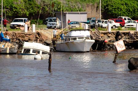 Maui Tsunami Pictures Maaleaa Harbor 2