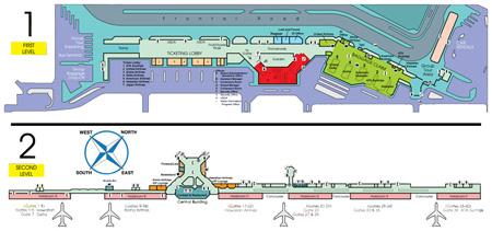 Kahului Airport Terminal Map