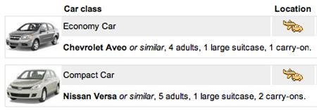Maui Auto Rental Expedia Number of Passengers