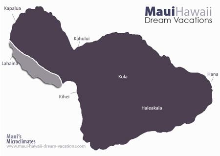 Maui Lahaina Weather Map Microclimates