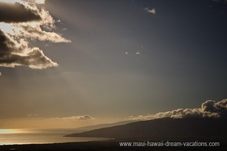 Maui Sunset Picture West Mountains